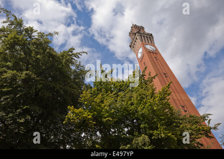 Joseph Chamberlain Memorial Clock Tower (affectionately known as 'Old Joe'), a grand campanile based on one in Sienna - Stock Photo