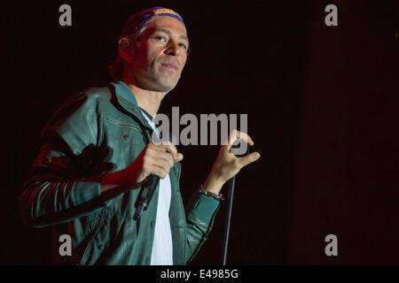 Milwaukee, Wisconsin, USA. 5th July, 2014. Rapper MATISYAHU performs live at the 2014 Summerfest Music Festival - Stock Photo