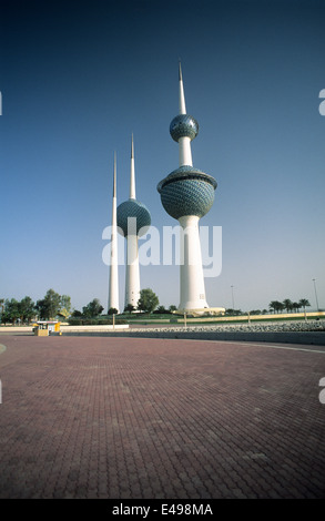 Middle East, Gulf states, Kuwait, the water towers, one of the main landmarks of Kuwait city. - Stock Photo