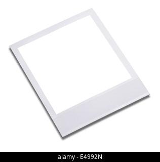 Blank instant photo print frame - Stock Photo