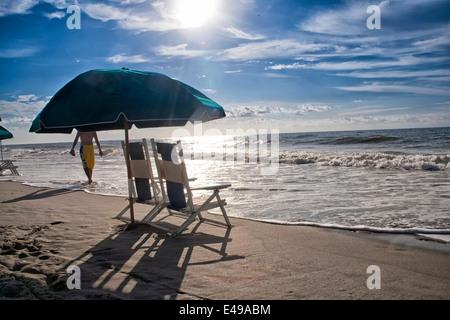 Beach at Myrtle Beach, South Carolina - Stock Photo