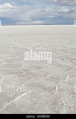 The Salar de Uyuni is the largest salt desert in the world continuously, with an area of 10,582 km ² - Stock Photo