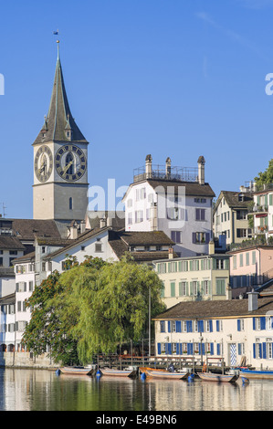 Zurich, Switzerland - the St. Peter Church - Stock Photo