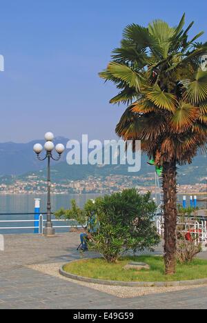 Iseo on Lake Iseo,Lombardy,Italy - Stock Photo