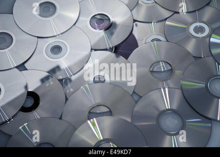 Background from compact disks - Stock Photo