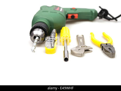 drill and other tools - Stock Photo