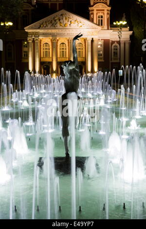 Ivan Vasov, National Theatre, City Garden Park, Sofia, Bulgaria, Europe - Stock Photo