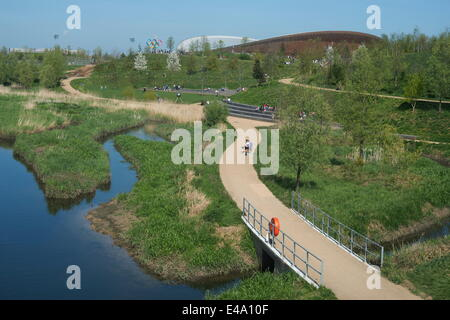 The Velodrome, Queen Elizabeth Olympic Park, Stratford, London, E20, England, United Kingdom, Europe - Stock Photo