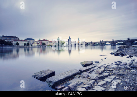 Czech republic, Prague, Charles Bridge - Stock Photo