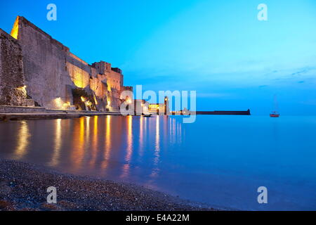 Chateau Royale, Collioure, Languedoc-Roussillon, France, Mediterranean, Europe - Stock Photo