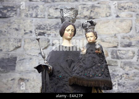 Virgin and Child statue in Saint Nicholas's cathedral, Ghent, Belgium, Europe - Stock Photo