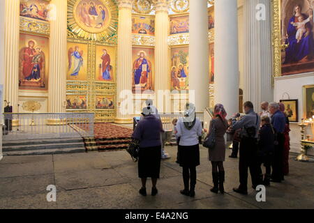 Orthodox Baptism, The Trinity Cathedral, St. Petersburg, Russia, Europe - Stock Photo