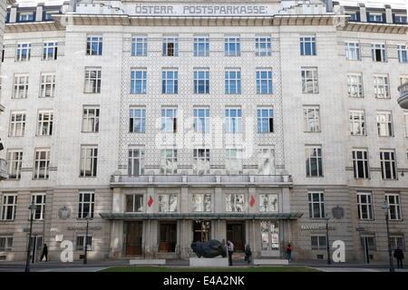 The Austrian Postal Savings Bank building, a modernist building in Vienna, built by the architect Otto Wagner, Vienna, - Stock Photo