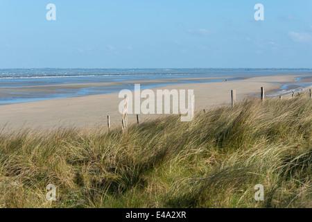 France, Normandie, Manche, Sainte Marie du Mont, view to Utah Beach - Stock Photo
