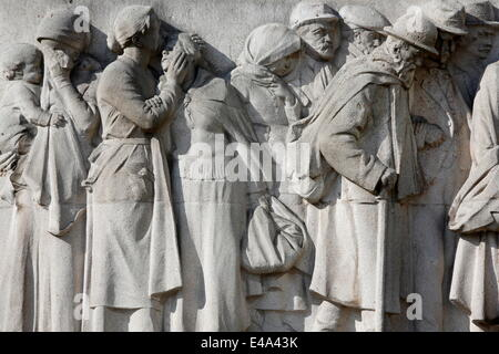 World War I memorial in Lille, Nord, France, Europe - Stock Photo