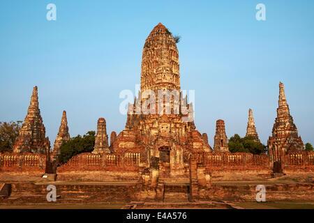 Wat Chai Wattanaram, Ayutthaya Historical Park, UNESCO World Heritage Site, Ayutthaya, Thailand, Southeast Asia, - Stock Photo