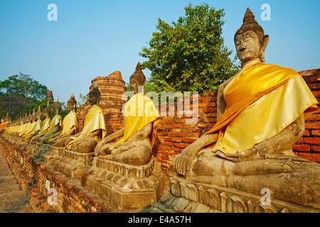 Wat Yai Chai Mongkhon, Ayutthaya Historical Park, UNESCO World Heritage Site, Ayutthaya, Thailand, Southeast Asia, - Stock Photo