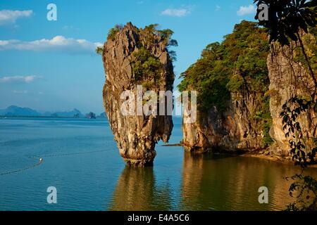 Phang Nga Bay, Ao Phang Nga National Park, Ko Khao Phing Kan Island, Ko Tapu Rock, Krabi Province, Thailand, Southeast - Stock Photo