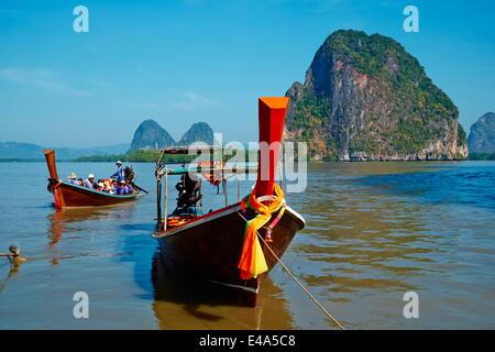 Phang Nga Bay, Ao Phang Nga Bay National Park, Krabi Province, Thailand, Southeast Asia, Asia - Stock Photo