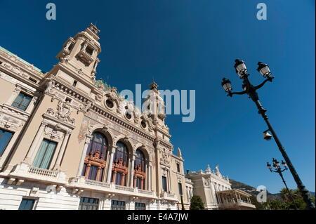 Casino, Monte Carlo, Principality of Monaco, Cote d'Azur, Europe - Stock Photo
