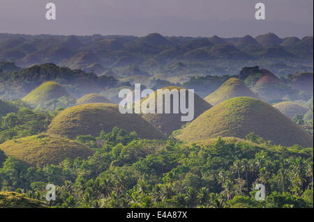 Chocolate Hills, Bohol, Philippines, Southeast Asia, Asia - Stock Photo