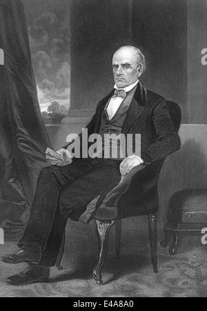 Daniel Webster, 1782 - 1852, a senator from Massachusetts - Stock Photo
