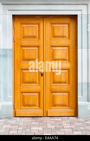 closed old wooden decorative doors stock photo - Decorative Doors