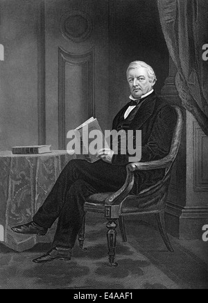 Millard Fillmore, 1800 - 1874, the 13th President of the United States, - Stock Photo