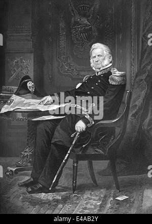 Winfield Scott, 1786 - 1866, a United States Army general, - Stock Photo