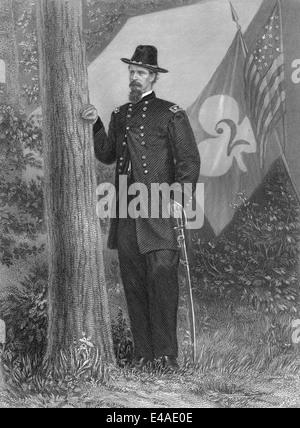Winfield Scott Hancock, 1824 - 1886, a career U.S. Army officer - Stock Photo