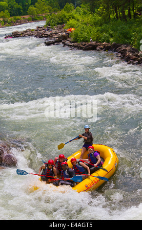 Whitewater rafting on the Ocoee river Tennessee USA Stock