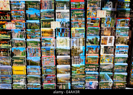 Postcards Heidelberg Germany DE Europe Neckar River - Stock Photo