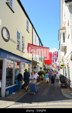 Foss Street, Dartmouth, South Hams District, Devon, England, United Kingdom - Stock Photo