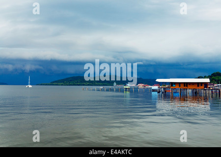 South East Asia, Kingdom of Brunei, Kampung Ayer water village - Stock Photo