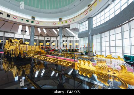 South East Asia, Kingdom of Brunei, Bandar Seri Begawan, Royal Regalia Museum - Stock Photo