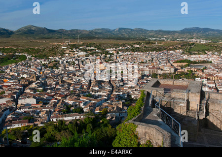 Panoramic view, Alcala la Real, Jaen-province, Region of Andalusia, Spain, Europe - Stock Photo