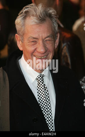 London, UK. 29th Apr, 2008. Sir Ian McKellen arrives for the UK premiere of 'Speed Racer' at Empire Leciester Square. - Stock Photo