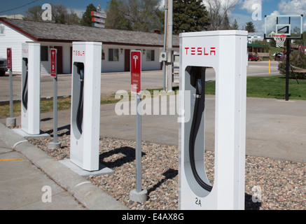 Chargers for Tesla Electric Cars - Stock Photo