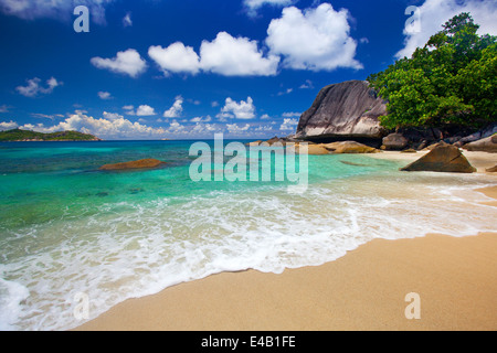 Dream Beach - Felicité Island Seychelles - Stock Photo