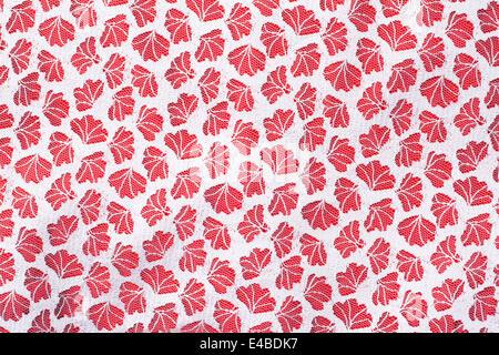 Tulle fabrics on red, background - Stock Photo