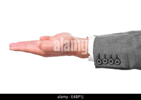 man hands open as begging or showing or holding something - Stock Photo