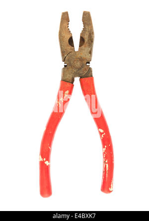 Old used pliers - Stock Photo