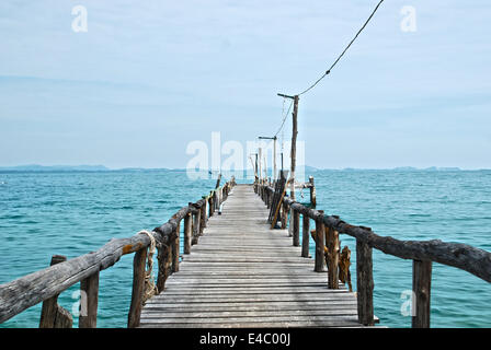 Wooden pier on the sea HDR - Stock Photo