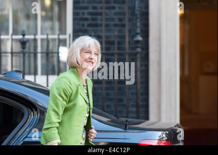 Downing Street, London, UK. 8th July 2014. UK government ministers attend 10 Downing Street in London for the weekly - Stock Photo