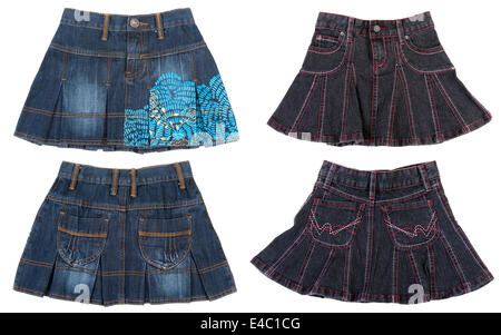 Collage from four feminine skirts - Stock Photo