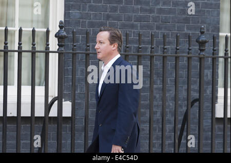 London, UK. 8th July, 2014. UK government ministers attend 10 Downing Street in London for the weekly Cabinet Meeting. - Stock Photo