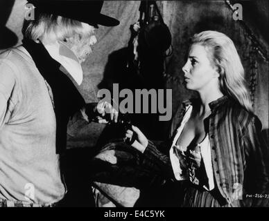 Lee Marvin, Lee Seberg, on-set of the Film, 'Paint Your Wagon', 1969 - Stock Photo