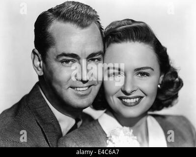 Alan Ladd, Donna Reed, Publicity Portrait for the Film, 'Beyond Glory', 1948 - Stock Photo