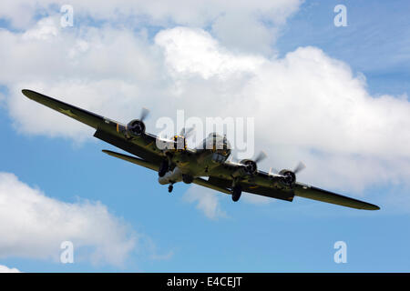 B-17 Flying Fortress G-BEDF Sally B - Stock Photo