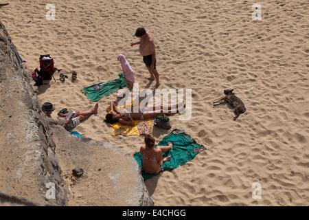 Beach in Tarrafal - Stock Photo